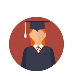 Student with graduation uniform vector