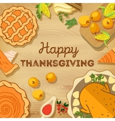 Thanksgiving day autumn vector