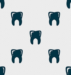 Tooth sign Seamless pattern with geometric texture vector image