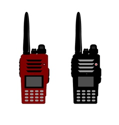 Walkie talkie or police radio and radio communicat vector