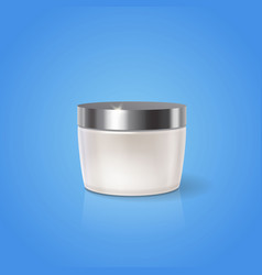 white cream jar design blank cosmetic container vector image