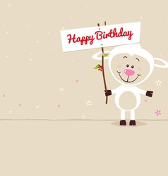 Lovely sheep with signboard vector image