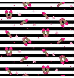Chic girl fashion seamless pattern vector