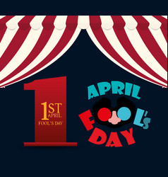 April fools day lettering design vector