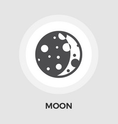 Moon flat icon vector