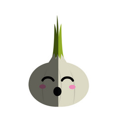 Kawaii nice funny onion vegetable vector