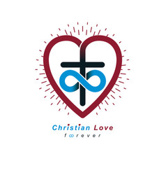 True infinite christian love and belief in god vector