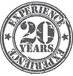Grunge 20 years of experience rubber stamp vector image
