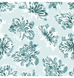 Frozen flowers seamless pattern for your design vector image