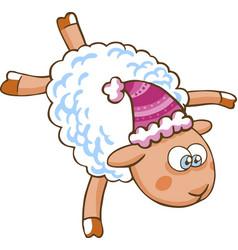 Cartoon sheep character vector