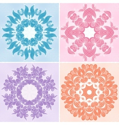 Set of ornamental patterns vector image
