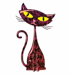 floral cat vector image