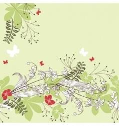 seamless horizontal floral pastel pattern vector image
