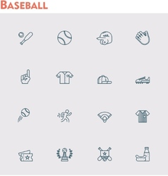 Baseball icon set vector