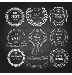 Set of hand drawn badges vector