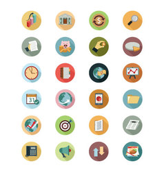 Financial flat icons 2 vector