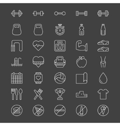 Sport or fitness icons vector
