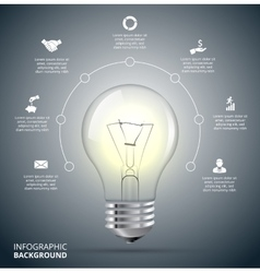 light bulb with circle for infographic vector image