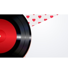 Background with hearts and a disc vector