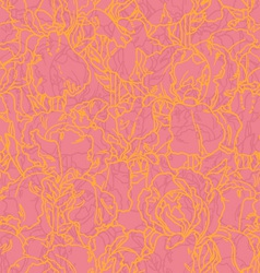 Seamless pattern with outlined irises vector
