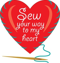 Sew your way vector