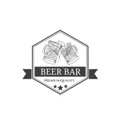 Vintage beer festival emblems vector