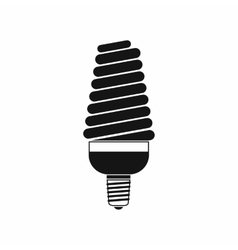 Energy saving bulb icon simple style vector
