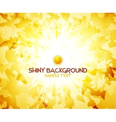Sunshine yellow abstract background vector