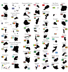 Countries of africa vector