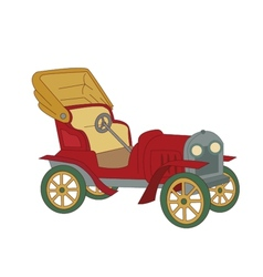 a classic vintage car vector image