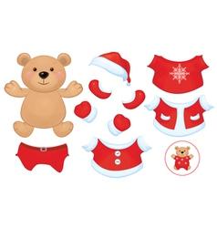 bear dress up vector image