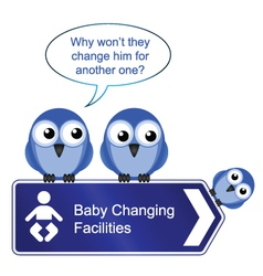 BIRD BABY CHANGING vector image vector image