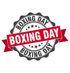 Boxing day stamp sign seal vector