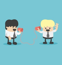 Businessman talking on a phone vector image