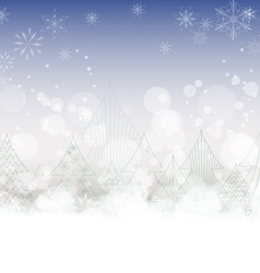 Christmas background with trees vector