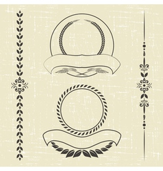 contour decorative ornaments vector image