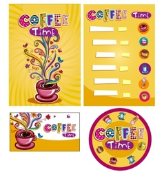 Corporate style for cafe or shop vector image