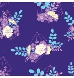 Creative card with geometric contour crystal vector
