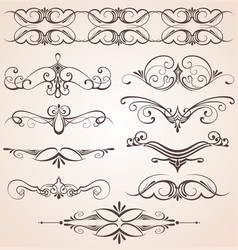 Decorative vintage elements vector