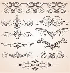 Decorative vintage elements vector