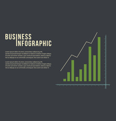 Design graph concept business infographic vector