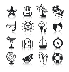 Holyday icons set vector image vector image