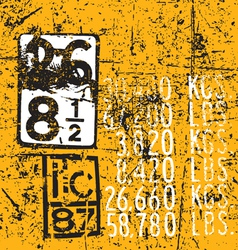 Industrial Markings vector image vector image