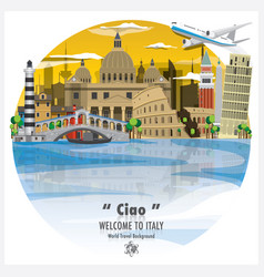 Italian republic landmark global travel and vector