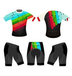 Joyful colors sports t-shirt vector