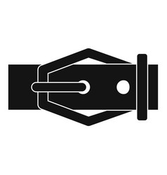 Leather belt icon simple style vector