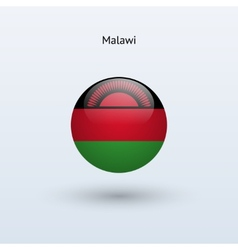 Malawi round flag vector image vector image