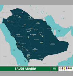 Map of saudi arabia vector