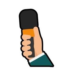 Microphone icon broadcasting design vector