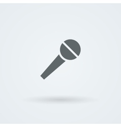 Microphone icon simple pictogram vector